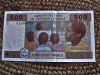 Chad: 500 Francs FCA bank note . Cemac - (Communaut� des Etats de l'Afrique Centrale) - (photo by Silvia Montevecchi)