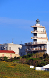 Porto Torres / P�ltu T�rra, Sassari province, Sardinia / Sardegna / Sardigna: lighthouse for the shipping of the Golfo dell'Asinara - photo by M.Torres