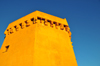 Porto Torres / P�ltu T�rra, Sassari province, Sardinia / Sardegna / Sardigna: Aragonese Tower in the harbour - Via Mare - Piazza Cristoforo Colombo - Torre del Porto - octagonal tower built by admiral Carroz - photo by M.Torres