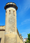 Sassari / T�thari, Sassari province, Sardinia / Sardegna / Sardigna: tower in the walls of St Sebastian jail - Carcere di San Sebastiano - photo by M.Torres