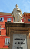 Sassari / T�thari, Sassari province, Sardinia / Sardegna / Sardigna: statue of Domenico Alberto Azuni, jurist and author born in Sassari - Pizza Azuni - photo by M.Torres
