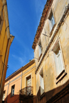 Sassari / T�thari, Sassari province, Sardinia / Sardegna / Sardigna: narrow street in the old town - photo by M.Torres